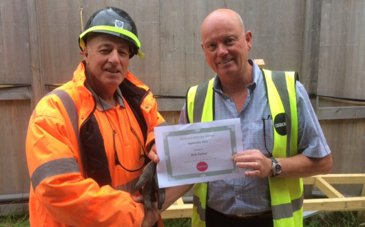 Robert Parker of PCE Ltd. Osborne – Monthly Safety Award Royal Holloway University