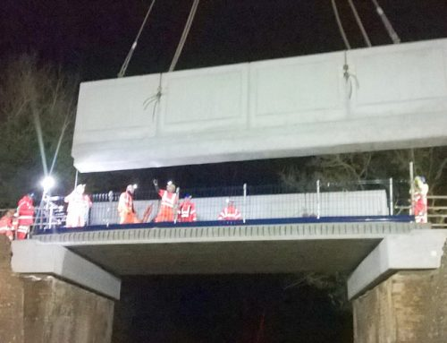 Road bridge over railway completed in under 12 hours