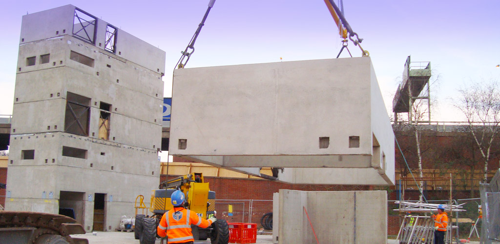 Frame to the car park areas under construction
