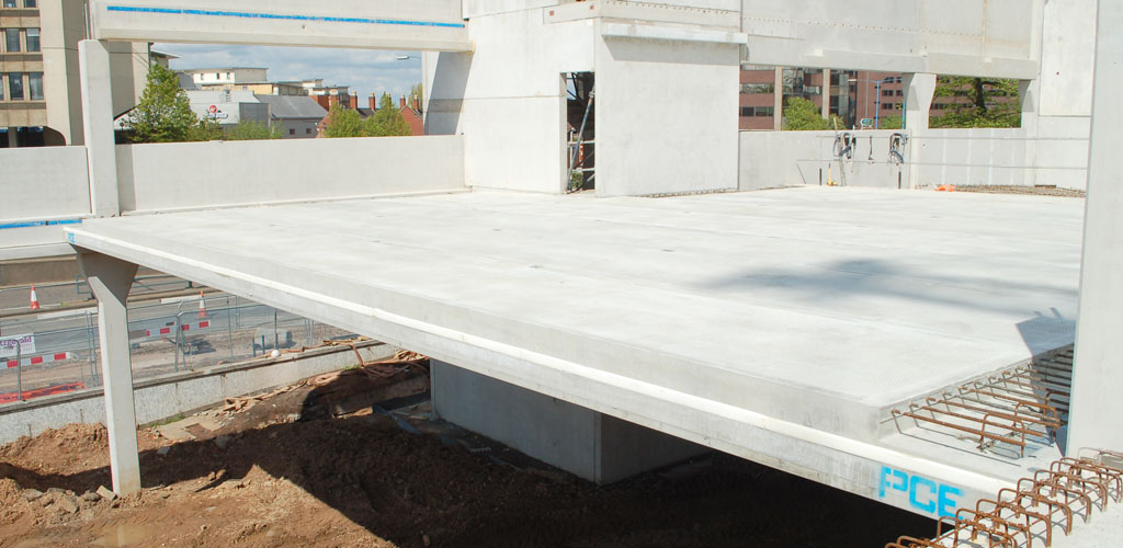 GT Slabs - precast concrete building for car park