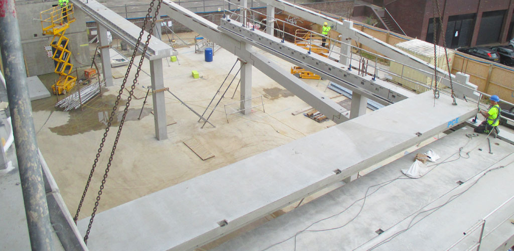 GT Slabs - precast hybrid building for car park