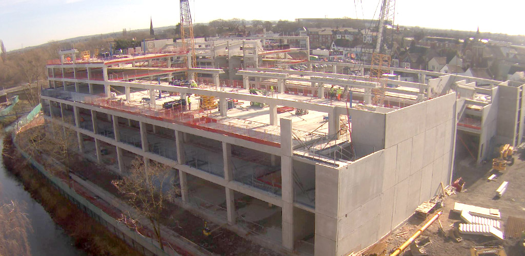 Hybrid precast construction has considerable speed benefits