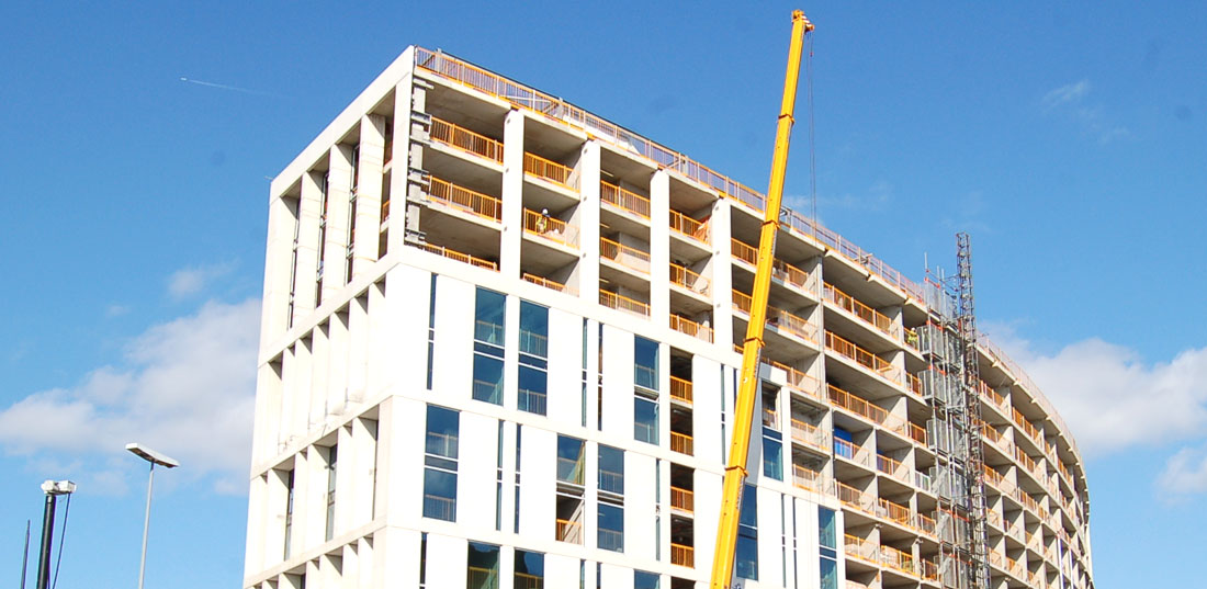 The main wall panels are manufactured in seven metre heights