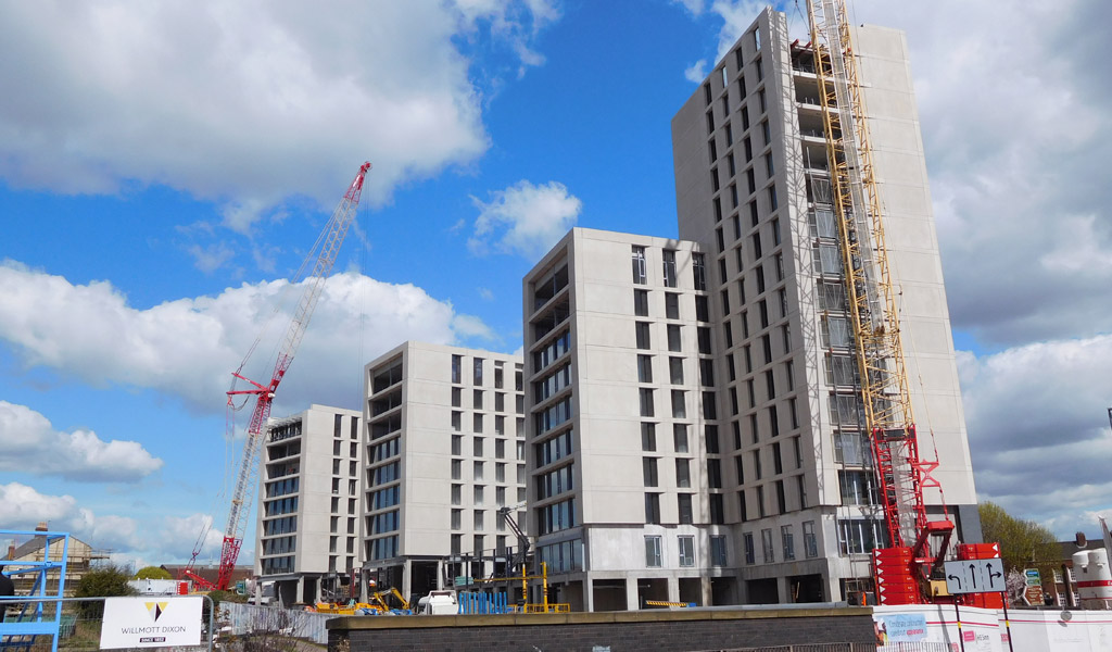 Offsite precast hybrid construction for student accommodation in Birmingham