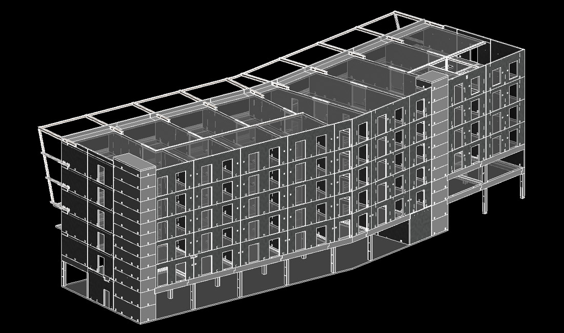 Old Trafford Hotel modelled in 3D prior to manufacture drawings being produced