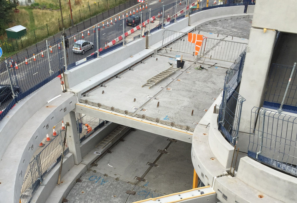 Offsite constructed car park ramp at the Lexicon Bracknell