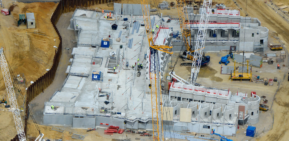 The flexibility in the PCE design and construction processes