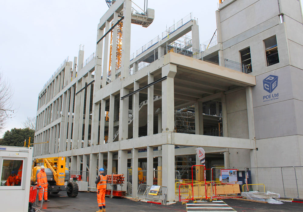 PCE Ltd worked on the offsite fabricated hybrid solution for the concrete frame