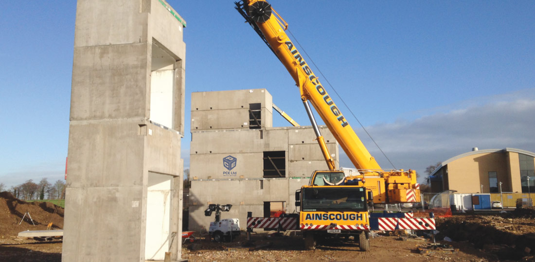 PCEs volumetric box structural core systems for multi-storey framed buildings