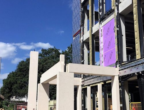 Kingston University update 11 – construction of the colonnade underway