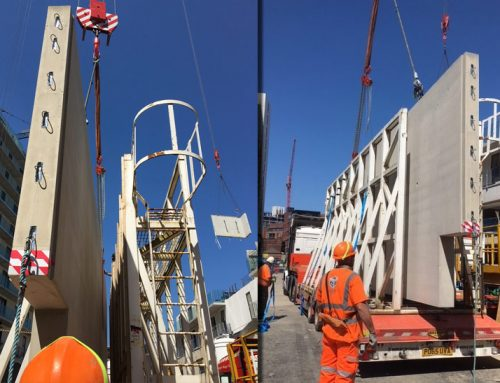 Chapel Wharf update 10 – a 21 tonne 10.21m wide precast unit arrives on site