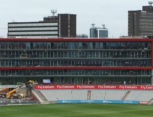 Structural hybrid frame for seven storey hotel at test cricket ground