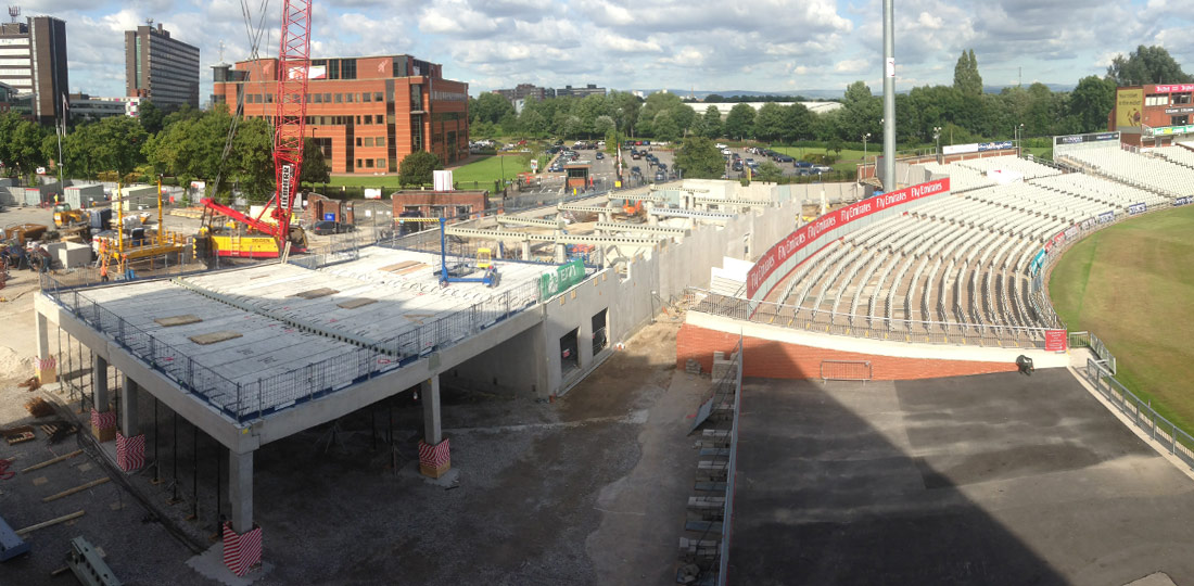 The Manchester Hotel also consists of precast concrete columns, beams, hollowcore flooring, internal cross walls