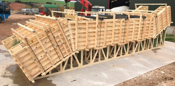 Manufacture of units involved casting them tread down in high quality engineered timber moulds