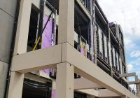 Precast concrete units are accurately detailed to achieve the desired minimisation of joint details
