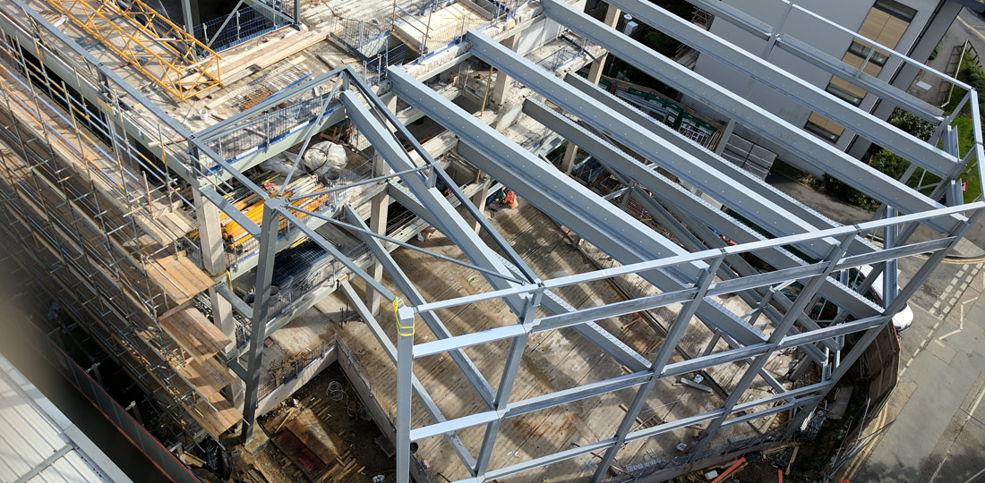 PCE are able to offer the Construction Industry innovative Hybrid structural solutions