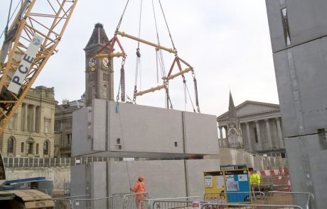 PCEs PreFastCore lift and stair cores for hybrid construction project in Birmingham