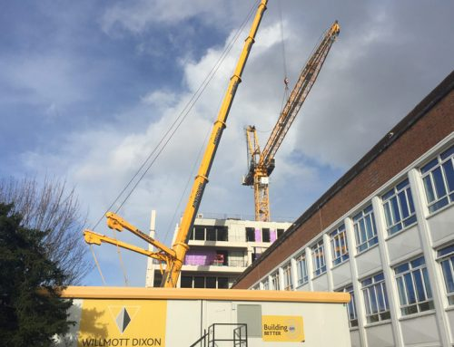 Kingston University update 14 – Double Tee units being installed through the structure