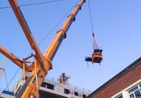 Crane being removed at PCEs Kingston project