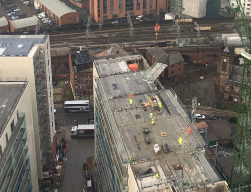Chapel Wharf update 16 – installing level 18 walls on block D