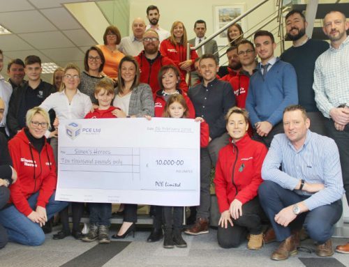 PCE raises an incredible £10,000 for local children's charity Simon's Heroes