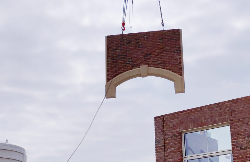 PCE's offsite engineered precast arch is 3.31 metres wide weighing 2.23 tonnes