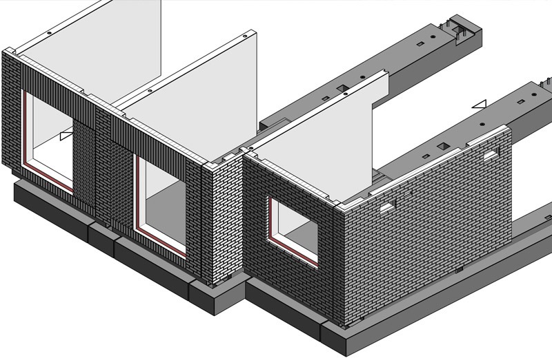 PCE's design drawing of the sandwich panels for Durham University