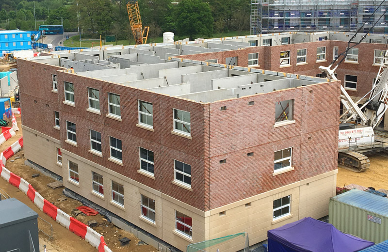 PCE's offsite engineered sandwich panels in place