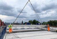 The flooring units comprise just over 40% of the total of the offsite engineered precast concrete units used to construct the building