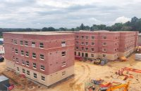 2 student accommodation buildings housing 368 student rooms and associated community and facility areas