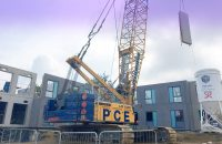 The PCE solution for the two accommodation buildings enabled a shorter construction programme on site