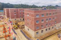 The external facades of PCE's HybriDfMA Offsite engineered solution