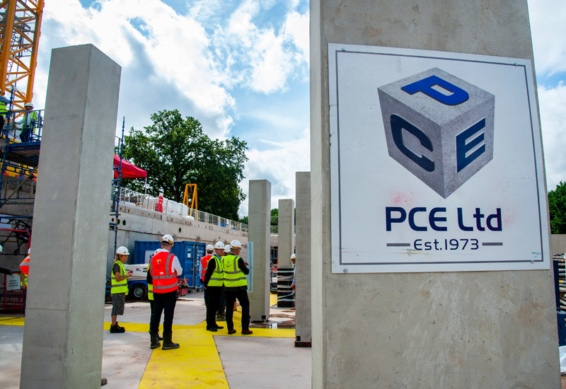 PCE are achieving high health and safety standards on the construction site