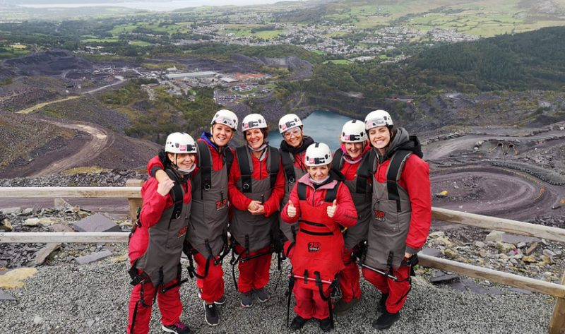 PCE's DareDevil Ladies see what they're up against at ZipWorld