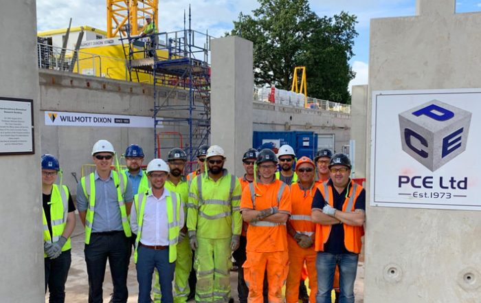 The PCE construction team at the University of Warwick