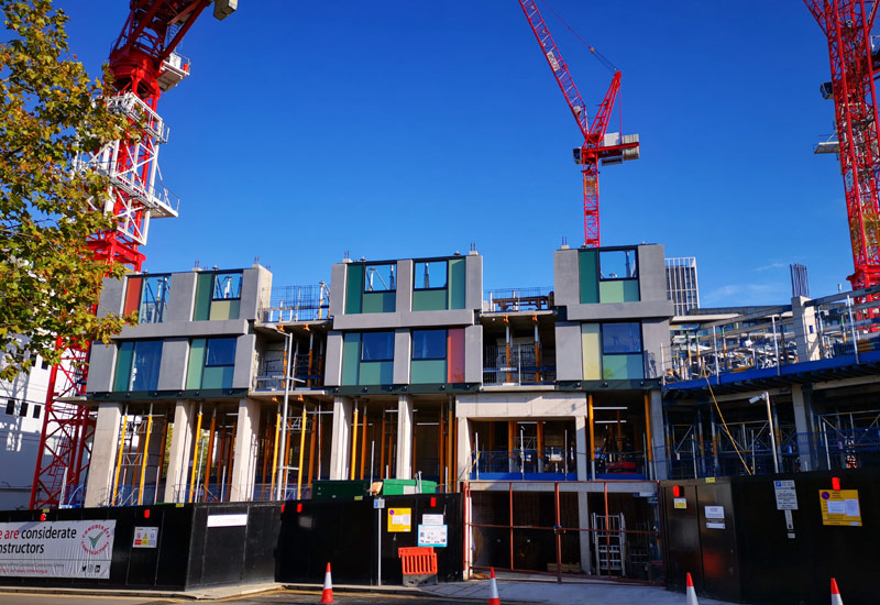 The High Rise construction project is part of the London Olympics regeneration