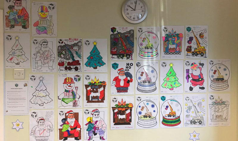 PCE's colouring competition in aid of Simon's Heroes