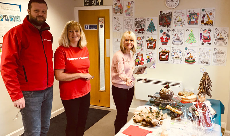 Members of the Simon's Heroes team at PCE's Festive Friday