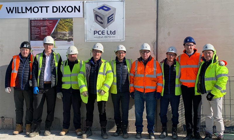 PCE, Willmott Dixon and University of Warwick jointly celebrate topping out of structural frame project