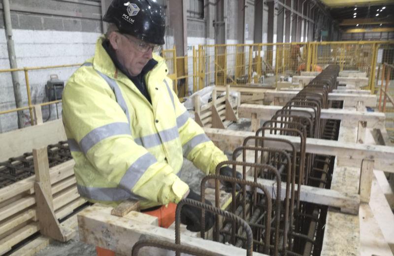 A planned rigorous quality control checking procedure on all precast units by PCE