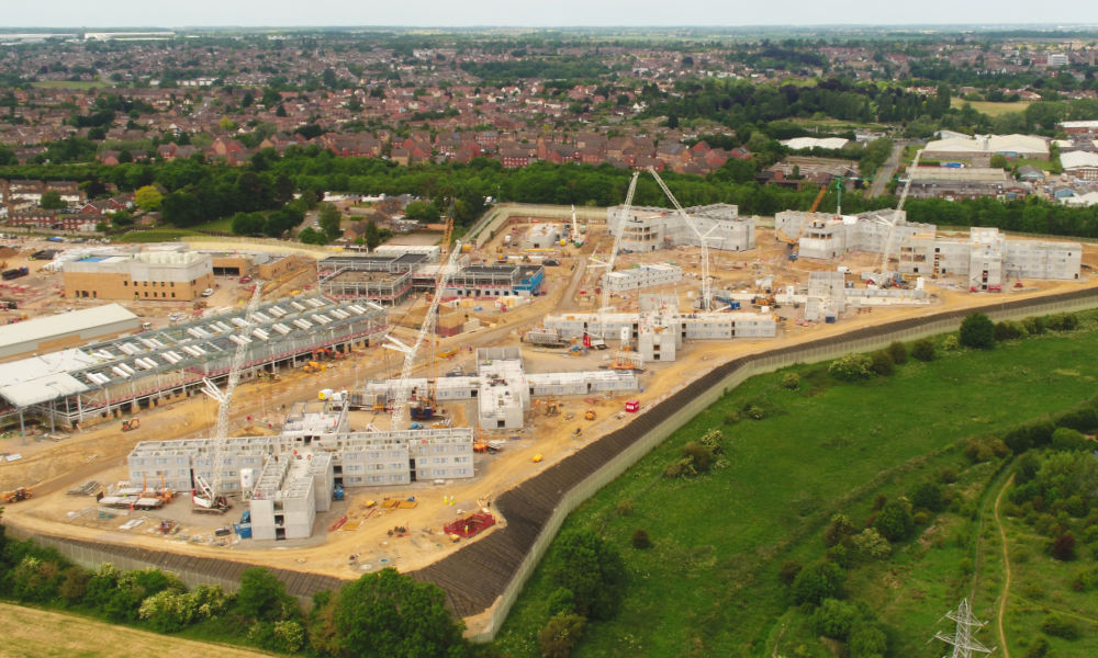 Despite the challenges caused by COVID-19, construction of the new prison at Wellingborough by Kier and supported by PCE has continued safely