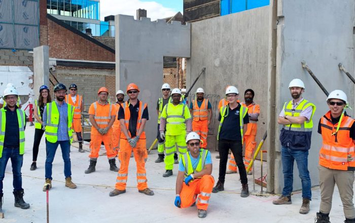 PCE's multi skilled site team at the Commercial Road construction project