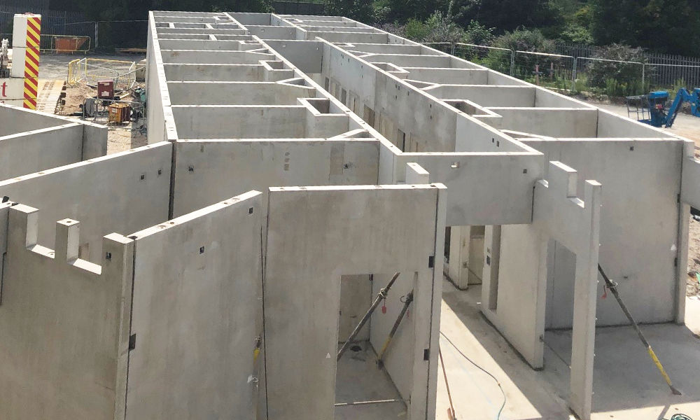 PCE's multi skilled site team installed a total of 97 structural precast concrete units in a week