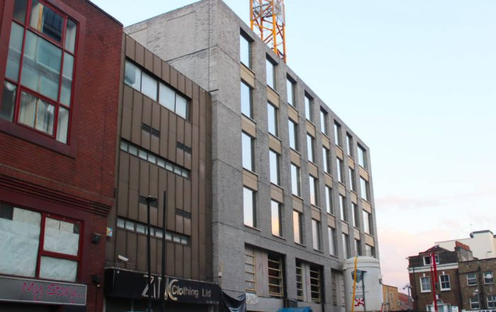 PCE's hyTower Superstructure system to Level 6 of the 14 storey Aparthotel in Whitechapel