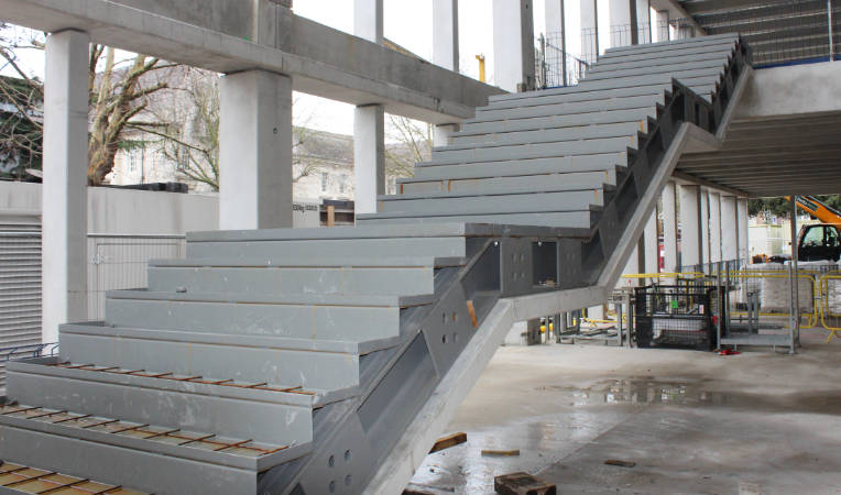 Stairs at PCEs Town House project