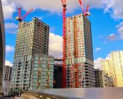 PCE has constructed a total of 57 floors across the two towers being 31 and 26 storeys high