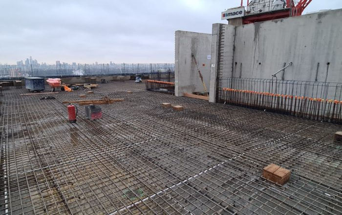 PCE has installed the final offsite manufactured precast concrete component on the HRS residential project