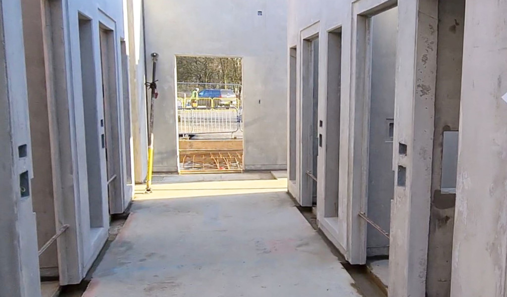 PCE had a 10 day on-site build programme to assemble and finish 22 holding cells