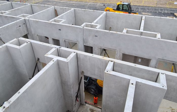 PCE maximises repetition of the unit precast concrete geometry and connectivity