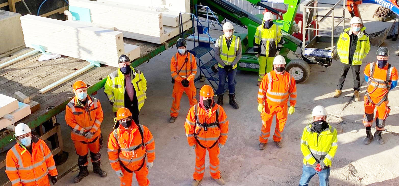 The works were executed on-site by a team of just 8 of PCE's multi-skilled construction operatives